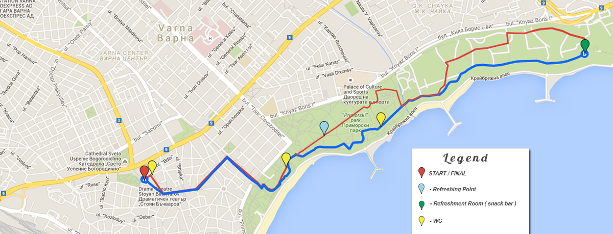 marathonvarna42km Course Map