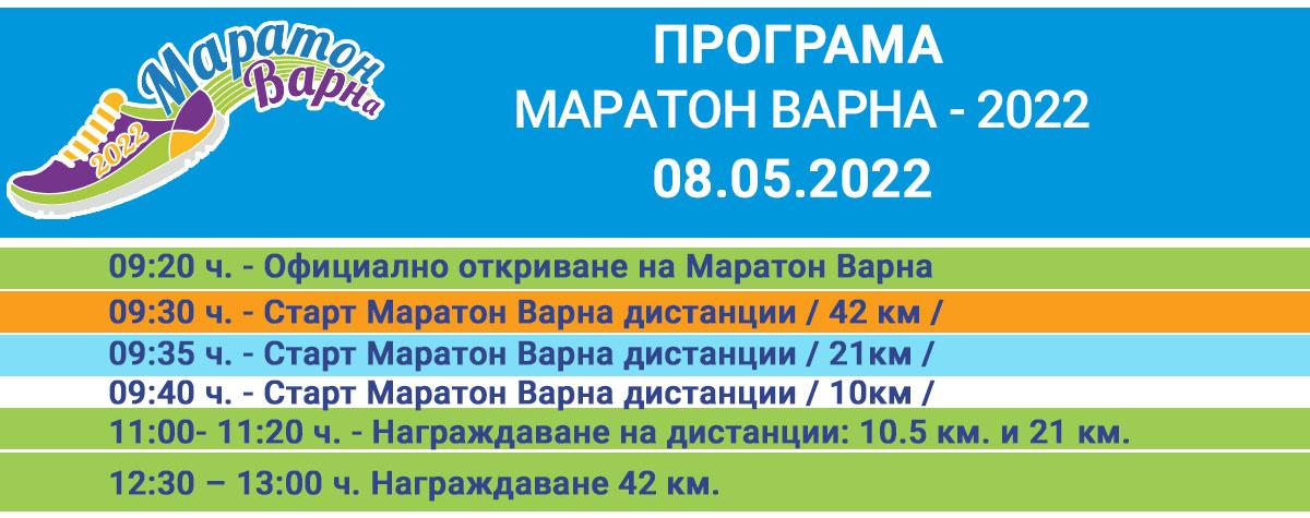 Маратон Варна 2021 - Програма