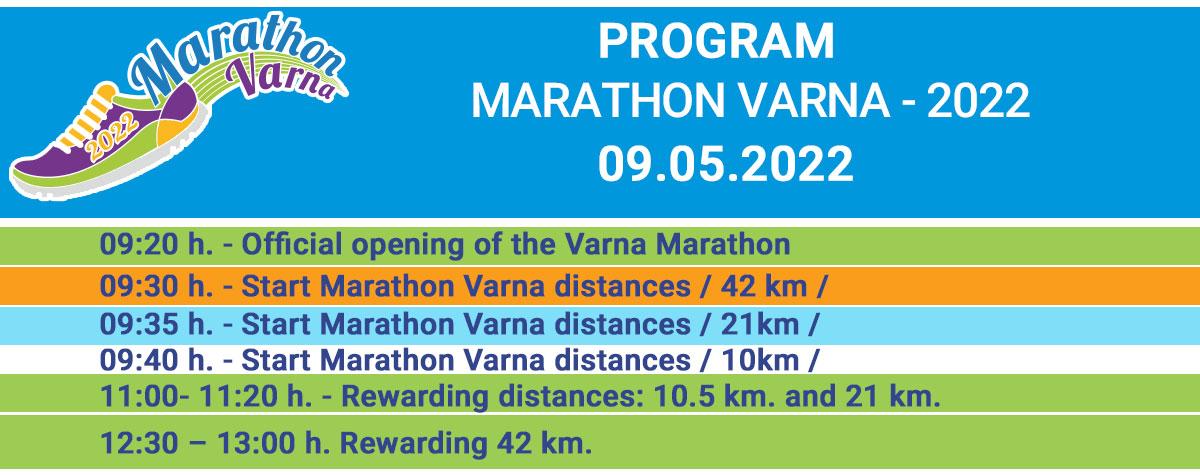 Marathon Varna 2021 - Program